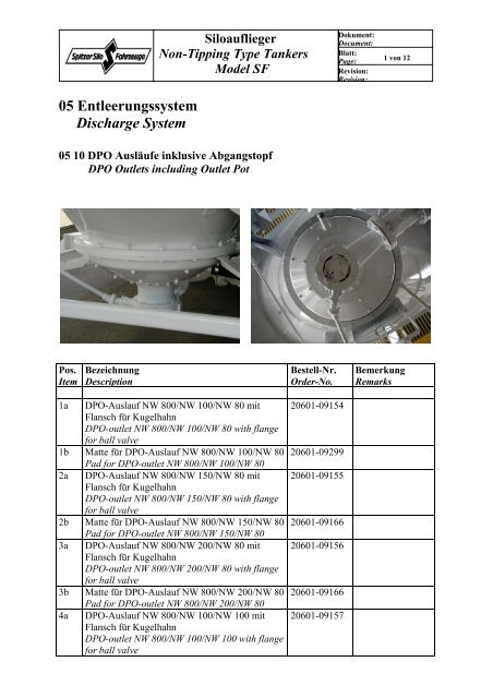 05 Entleerungssystem Discharge System - Spitzer Silo
