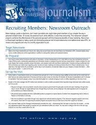 Recruiting Members: Newsroom Outreach