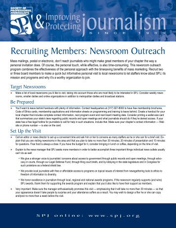 Recruiting Members: Newsroom Outreach