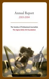 2003-04 Annual Report - Society of Professional Journalists