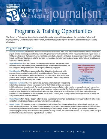 Programs & Training Opportunities - Society of Professional ...