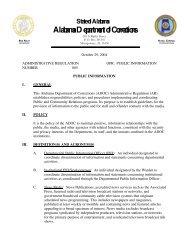 AR 005 - Alabama Department of Corrections