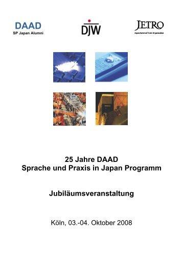25 Jahre DAAD Sprache und Praxis in Japan Programm ...