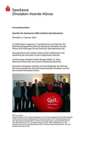 Sportler der Sparkassen-BSG erhielten Sportabzeichen