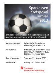 Sparkassen-Kreispokal-Turnier 2013 - Sparkasse Rosenheim