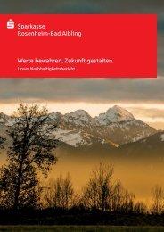 Nachhaltigkeitsbericht - Sparkasse Rosenheim