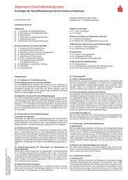 Allgemeine Geschäftsbedingungen - Sparkasse Rosenheim