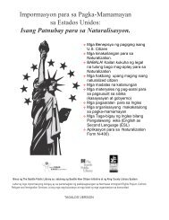 Impormasyon para sa Pagka-Mamamayan sa Estados Unidos ...