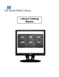 Download a learning packet - Seattle Public Library