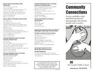 Community Connections Brochure - Seattle Public Library