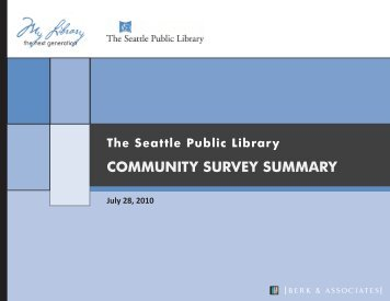 Community Survey Summary - Seattle Public Library