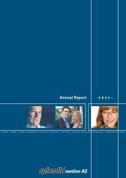 Annual Report 2005 - Splendid Medien AG