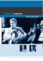 Annual report 2000 - Splendid Medien AG