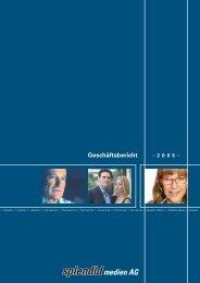 Geschäftsbericht für das Jahr 2005 - Splendid Medien AG