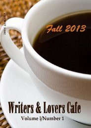Writers & Lovers Cafe: Fall 2013