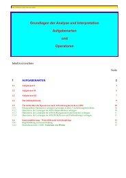 Grundlagen der Analyse und Interpretation Aufgabenarten und ...