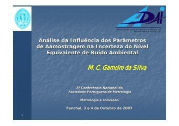 Análise da Influência dos Parâmetros de Amostragem na ... - SPMet