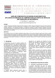 análise comparativa de modelos matemáticos aplicados na ... - SPMet
