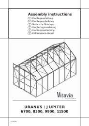 Assembly instructions URANUS / JUPITER 6700 ... - King of Sports