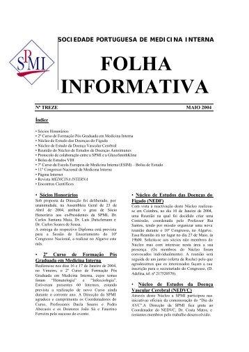 FOLHA INFORMATIVA - Sociedade Portuguesa de Medicina Interna