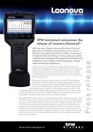 Read and download the press release in full text ... - SPM Instrument