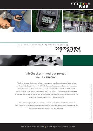 VibChecker – medidor portátil de la vibración - SPM Instrument