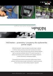 VibChecker – przenośny i przyjazny dla ... - SPM Instrument