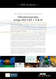 Vibrationsanalys enligt ISO CAT I, II & III - SPM Instrument