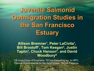 Juvenile salmonid outmigration studies in the San Francisco Estuary