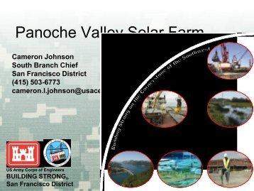 USACE Presentation - San Francisco District - U.S. Army
