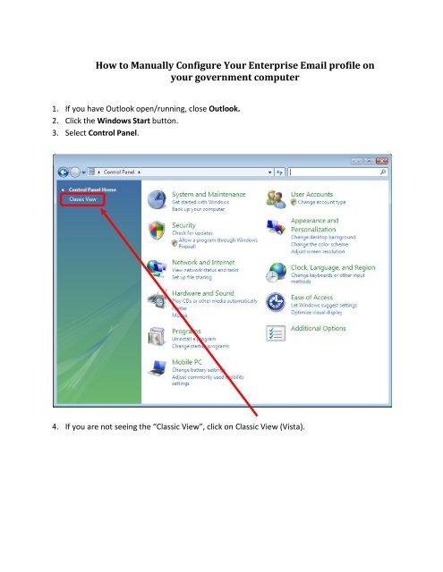 How to Manually Configure Your Enterprise Email profile on