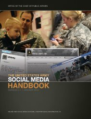 U.S. Army Social Media Handbook - 25th Infantry Division - U.S. Army