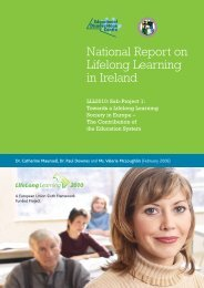 National Report on Lifelong Learning in Ireland. LLL2010