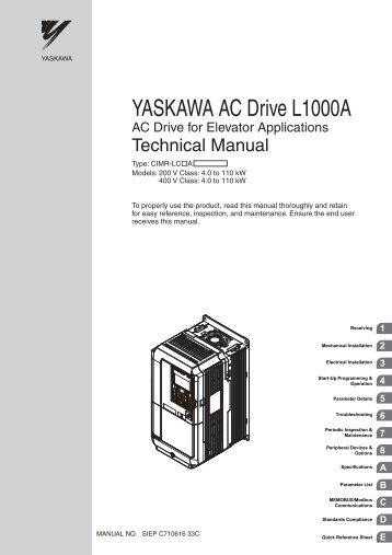 Yaskawa ac drive-option card cc-link techincal manual.