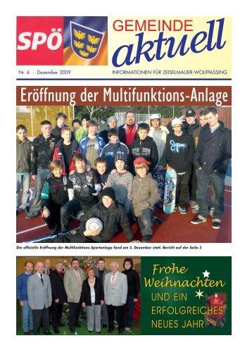 Eröffnung der Multifunktions-Anlage - SPÖ Zeiselmauer-Wolfpassing