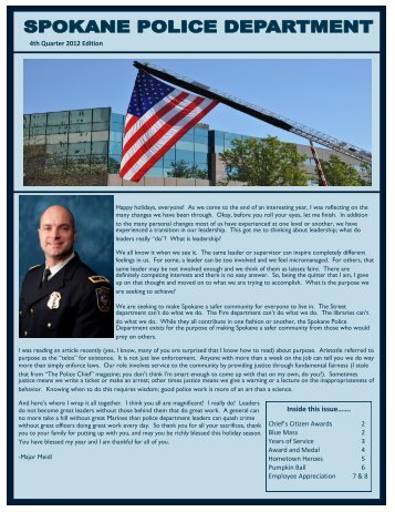 4th Quarter 2012 Newsletter - Spokane Police Department