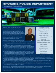 October 2011 Edition SPD Newsletter - Spokane Police Department