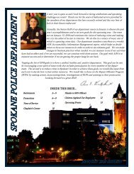 INSIDE THIS ISSUE... - Spokane Police Department