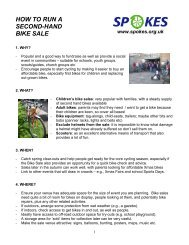 HOW TO RUN A SECOND-HAND BIKE SALE - Spokes