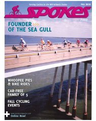 fOUNDER Of THE SEa GUll fOUNDER Of THE ... - Spokes Magazine