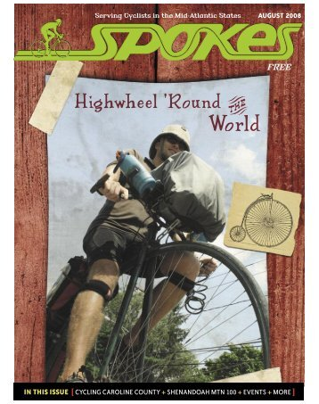 IN THIS ISSUE [CYCLING CAROLINE COUNTY ... - Spokes Magazine