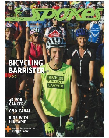 BICYClING BaRRISTER BICYClING ... - Spokes Magazine