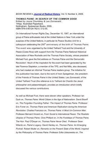 The Thomas Paine Society