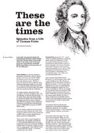 Episodes from a Life of Thomas Paine - Spokesman Books