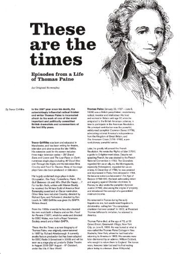 Episodes From A Life Of Thomas Paine