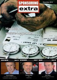 Tarifdoc Sponsoring extra Magazin 2013