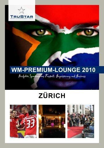 Fussball WM-Premium-Lounge 2010 in Zürich - Sponsoring Extra