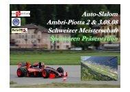 Auto-Slalom, Ambri-Piotta - Sponsoring Extra