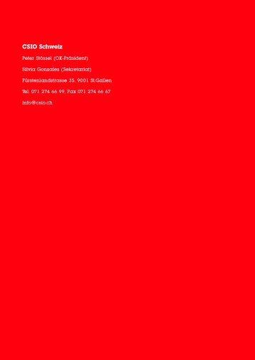 CSIO Schweiz - Sponsoring Extra
