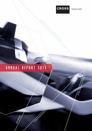 ANNUAL REPORT 2011 - Cross Industries AG